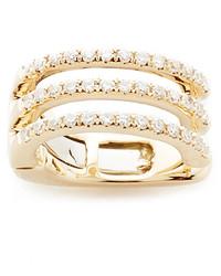 goldene Ohrringe von Ef Collection