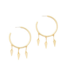 goldene Ohrringe von Rebecca Minkoff