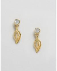 goldene Ohrringe von Ted Baker