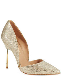 goldene Paillette Pumps