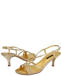 goldene Pailletten Sandaletten