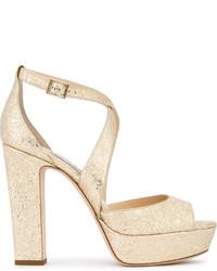 goldene Sandaletten von Jimmy Choo
