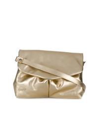 goldene Satchel-Tasche aus Leder