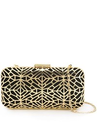 goldene Satin Clutch