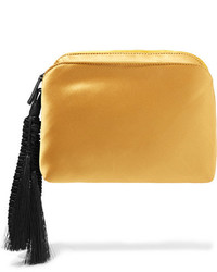 goldene Satin Clutch von The Row