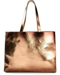 goldene Shopper Tasche aus Leder