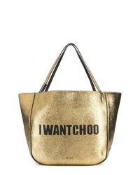 goldene Shopper Tasche aus Leder von Jimmy Choo