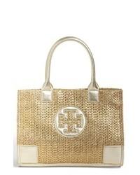 goldene Shopper Tasche aus Segeltuch