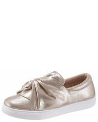 goldene Slip-On Sneakers aus Leder von Hailys
