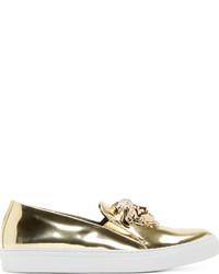 goldene Slip-On Sneakers von Versace