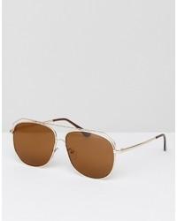 goldene Sonnenbrille von Asos