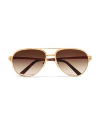 goldene Sonnenbrille von Cartier Eyewear