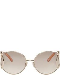 goldene Sonnenbrille von Chloé