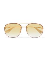 goldene Sonnenbrille von Gucci