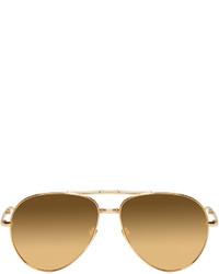 goldene Sonnenbrille von Linda Farrow Luxe