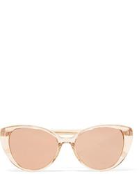 goldene Sonnenbrille von Linda Farrow