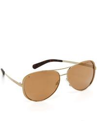 goldene Sonnenbrille von Michael Kors