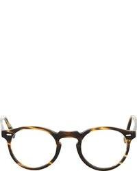 goldene Sonnenbrille von Oliver Peoples