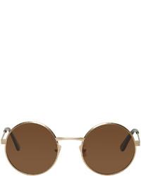goldene Sonnenbrille von Saint Laurent