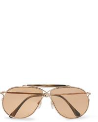 goldene Sonnenbrille von Tom Ford
