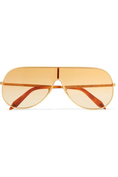 goldene Sonnenbrille von Victoria Beckham