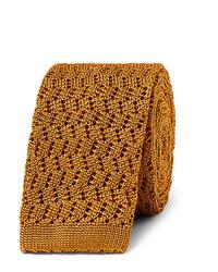 goldene Strick Krawatte von Rubinacci