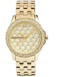 goldene Uhr von Armani Exchange