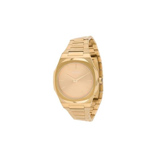 goldene Uhr von D1 Milano