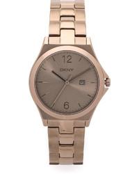 goldene Uhr von DKNY