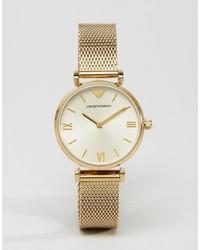 goldene Uhr von Emporio Armani