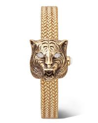 goldene Uhr von Gucci