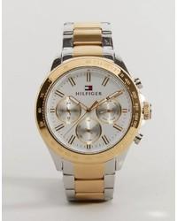 goldene Uhr von Tommy Hilfiger