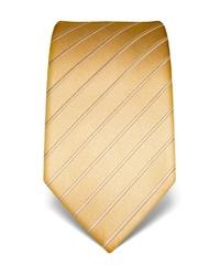 goldene vertikal gestreifte Krawatte von Vincenzo Boretti