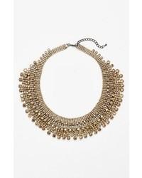goldene verziert mit Perlen Halskette
