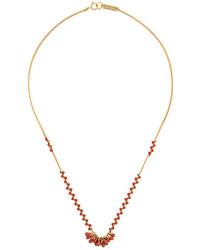 goldene verziert mit Perlen Halskette von Isabel Marant