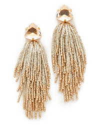 goldene verziert mit Perlen Ohrringe von Tory Burch