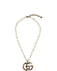 goldene Perlen Perlenkette von Gucci