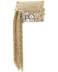 goldene verzierte enge Halskette von Lanvin