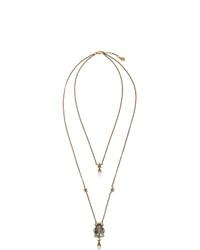 goldene verzierte Halskette von Alexander McQueen