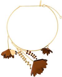 goldene verzierte Halskette von Marni
