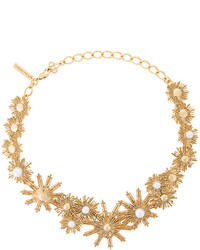 goldene verzierte Halskette von Oscar de la Renta