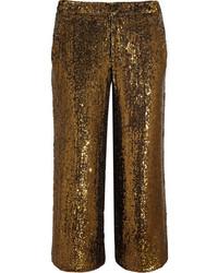 goldene weite Hose aus Pailletten von J.Crew
