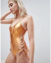 goldener Badeanzug von Pieces