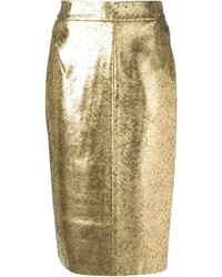 goldener Bleistiftrock