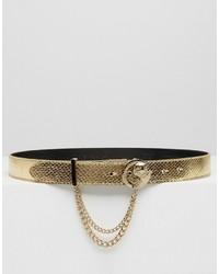 goldener Gürtel von Versace