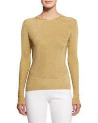 goldener Pullover mit einem Rundhalsausschnitt