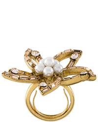 goldener Ring von Oscar de la Renta