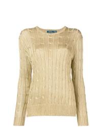 goldener Strickpullover von Polo Ralph Lauren