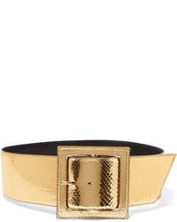 goldener Taillengürtel mit Schlangenmuster von Saint Laurent