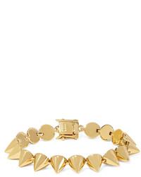 goldenes Armband mit geometrischen Mustern von Eddie Borgo